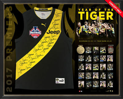 Richmond 2017 Afl Premiers Team Signed Guernsey Jumper Jersey Dusty Cotchin