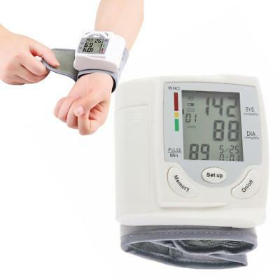 Digital LCD Wrist Blood Pressure Monitor Heart Beat Rate Pulse Meter Measure UK