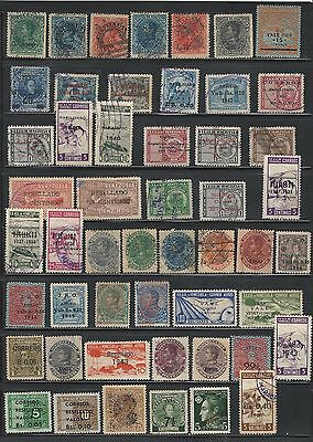 Venezuela: Lot 50 different, stamps with overprint, used. VE515
