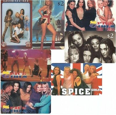 Mixed Phonecards -  7 Cards Spice Girls - 5 Cards Mint/Neuves