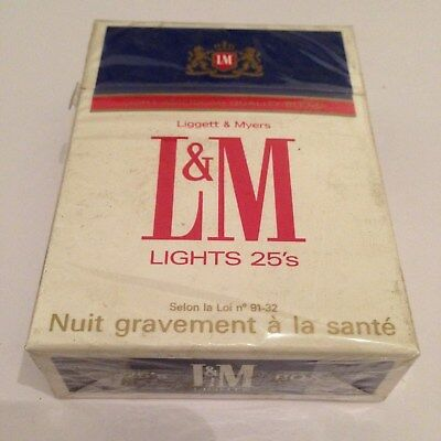 Ancien paquet de cigarettes plein LM tabacco pour collection