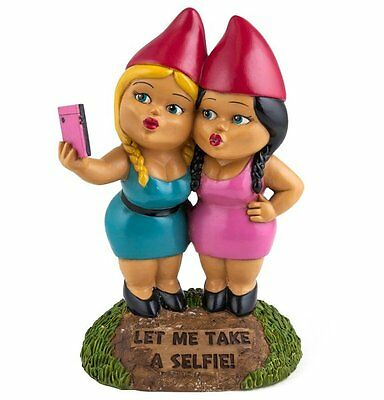 Big Mouth Toys SELFIE SISTERS Garden GNOME STATUE Novelty Outdoor Girls Gnomes