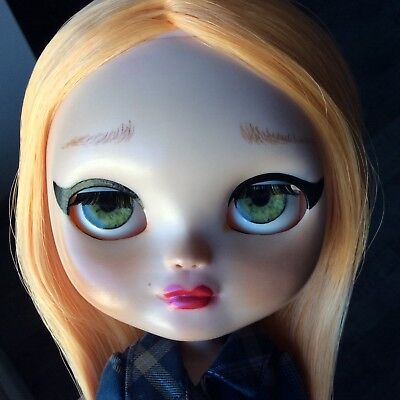 Custom Icy / Blythe doll FRONT & BACK faceplate