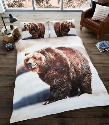 X Large Winter 2 x 2.4 Meter Queen Size Plush Mink Blanket - Bear