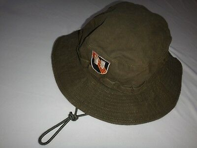 Vietnam War US 5th SFGrp CAPTAIN Green OD Boonie Hat With Adjustable Chinstrap