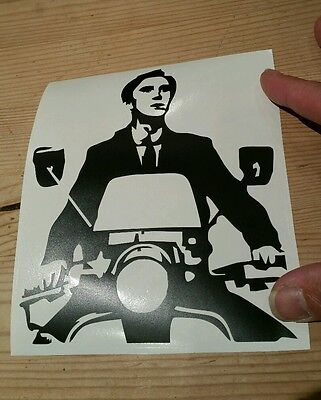 Quadrophinia scooter jimmy Mod ska sticker great for vespa lambretta in black
