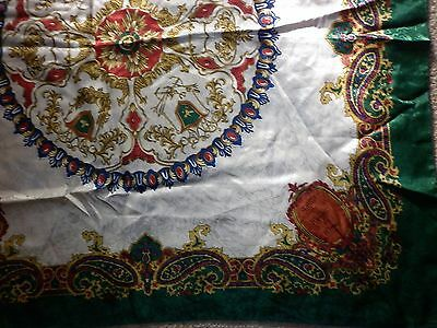 Vintage   Polyester Classical  Print  Scarf Good Condition