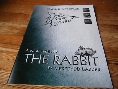 2001   Theatre  Programme -  The  Rabbit -   At The Clwyd  Theatre       Vgc