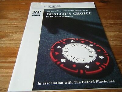 1996 Theatre  Programme - Dealers  Choice -  At The Oxford  Playhouse