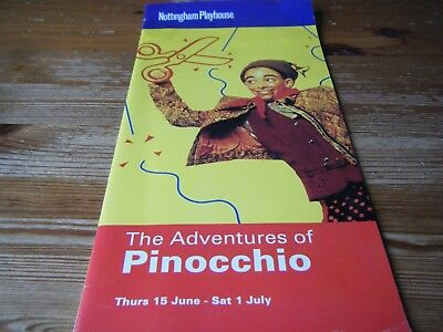 Theatre  Programme - The  Adventures Of  Pinocchio -  Nottingham  Playhouse