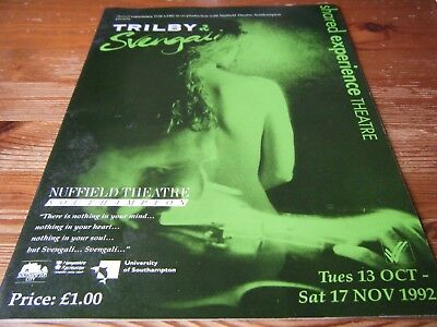 1992  Theatre Programme -  Trilby And Svengali  At The Nuffield  Southampton