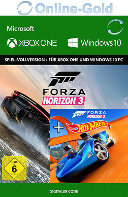 Xbox One & Windows 10 PC - Forza Horizon 3 III + Hot Wheels DLC Bundle Key DE/EU