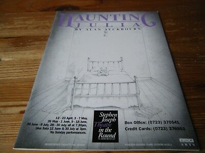 1994  Theatre Programme - Haunting  Julia -  By Alan Ayckbourn - Scarborough Vgc