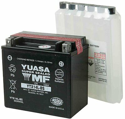 New Bikers Choice Twin Power AGM Battery 04-14 XL Sportster YTX14L-BS