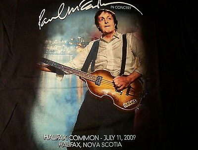 Paul McCartney in Concert T Shirt 2009 Halifax Common XL Vg+ Condition Beatles