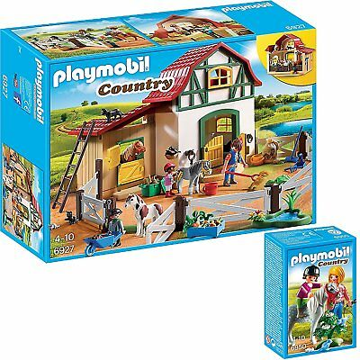 Playmobil Country 2er Set 6927 6950 Ponyhof Spaziergang mit Pony NEU