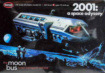 Moon Bus 2001 a space odyssey Stanley Kubrick 1:55 Model Kit Moebius 2001-1