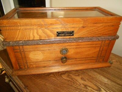 Antique Henry Troemner Scientific Scale - Oak and Marble Case