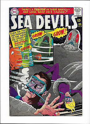 """Sea Devils #27  [1966 Gd]  """"menace Of The Micro-Monsters"""""""