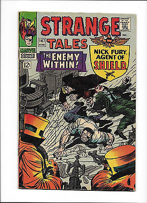 """Strange Tales #147  [1966 Fn-Vf]  """"the Enemy Within!"""""""