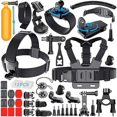 Kit Set accessori per GoPro HERO 5 4 3+ 3 2 1 SJ4000 SJ5000 SJ6000 Telecamere