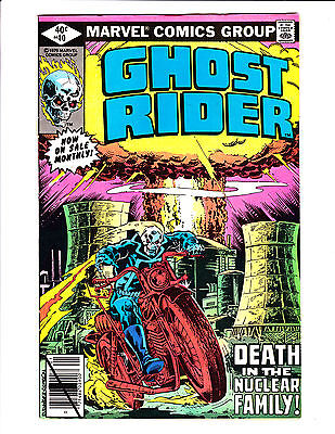 Ghost Rider   No.40     : 1979 :     : Nuclear Power Plant Cover! :