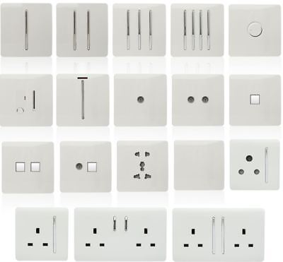 Trendi Switch White Designer Lightswitches, Plug Sockets, Fused Spurs, TV, Phone