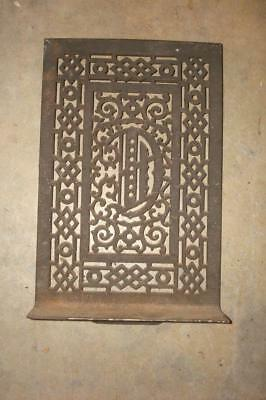 Antique Narrow Ornate Iron Wall Grate