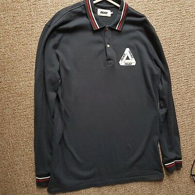 Palace skateboards tri-ferg long sleeve polo Navy Size XL