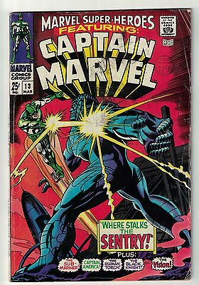 Marvel Super hero #13 1st Ms Marvel Captain AVENGERS vg+ 4.5 1968 Carol danver.