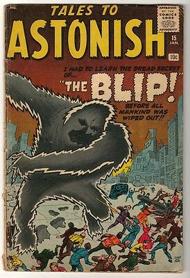 Marvel Comics VG-  #15  TALES TO ASTONISH PROTO TYPE ELECTRO spiderman 1960