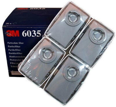 3M - 6035 SERIES PARTICULATE CARTRIDGE FILTERS P3 - (2 pairs - 40 pairs)