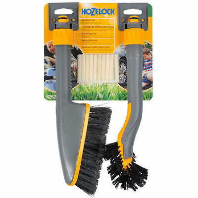 Hozelock Wheel and Car Brush Twin Pack With Shampoo 2624