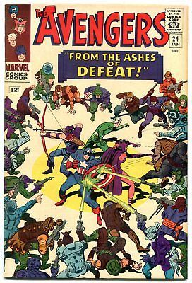 The Avengers #24 1966- Marvel Silver Age- f/vf