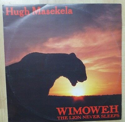 "HUGH MASEKELA - Wimoweh (The lion Never Sleeps) 1984 12"" vinyl."