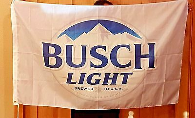 Busch Light Bud Beer Flag 3x5 Indoor Outdoor Banner man cave bar Christmas Gift
