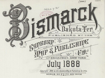 Bismarck, South Dakota ~Sanborn Map© sheets in full color with 8 maps on a CD.