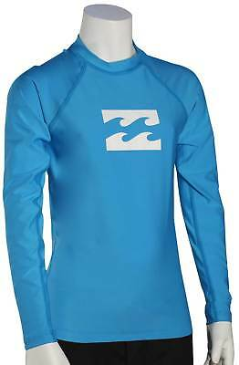 Billabong Boy's All Day Wave LS Rash Guard - New Blue - New
