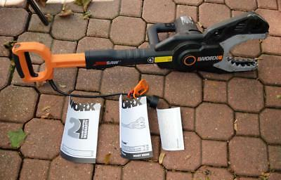 Worx JawSaw Electric Chain Saw model WG308 no extension pole used once-twice