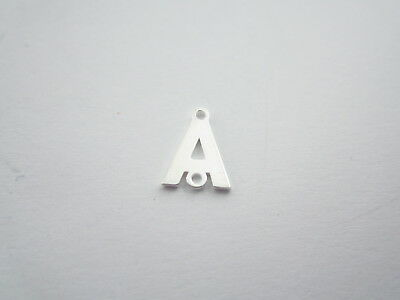 1 connettore 2 fori  lettera A in argento 925 made in italy misure 11 x 6 mm