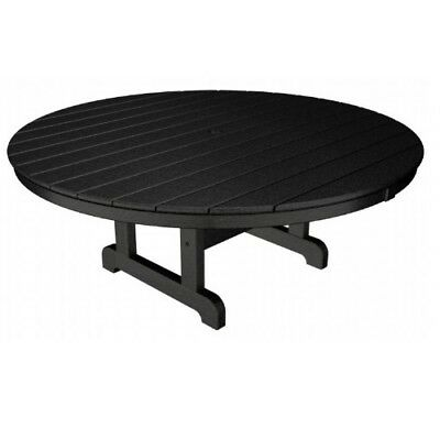 """PolyWood RCT248  Black Round 48"""" Conversation Table"""