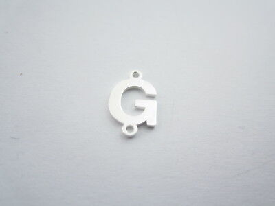1 connettore 2 fori  lettera G in argento 925 made in italy misure 11 x 6 mm