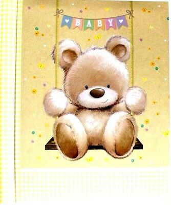 NEW Baby Photo Album  (  Self Adhesive ) - Teddy on a Swing  -WH3 -R6A -939 NEW