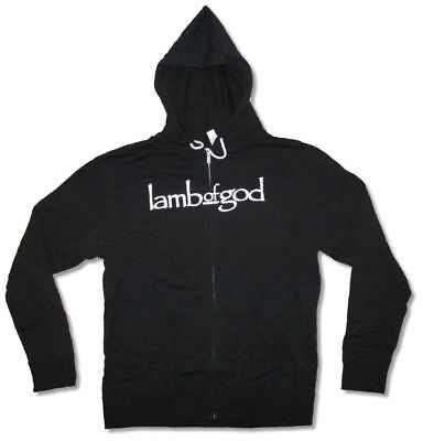 Lamb Of God Blue Sturm Und Drang Zip Up Black Sweatshirt Hoodie New Official