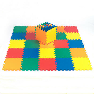 """12"""" x 12"""" Baby Play Mat Foam Puzzle 36 Toddler Kids Safety 1/2"""" Thick 5 Color"""