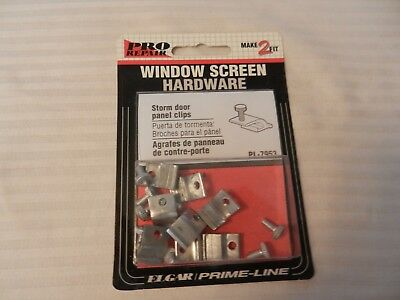 Storm Door Panel Clips from Prime-Line Pro Repair #PL-7953 Package of 8 Clips