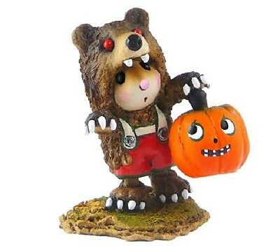 Wee Forest Folk M-490 Little Mouse in Scary Bear!