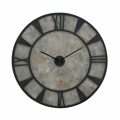 Deco 79 Rustic Industrial Large Round Wood and Metal Home Decor Wall Clock