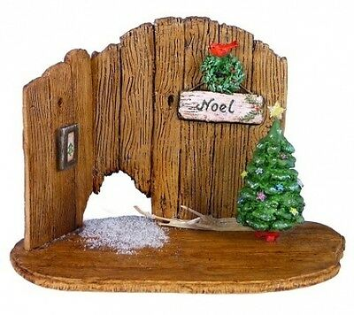 Wee Forest Folk NM-4a Christmas Barn Door Backdrop
