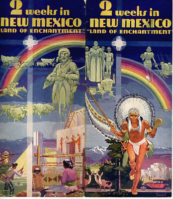 """1930's """"2 Weeks in New Mexico"""" Travel Brochure"""